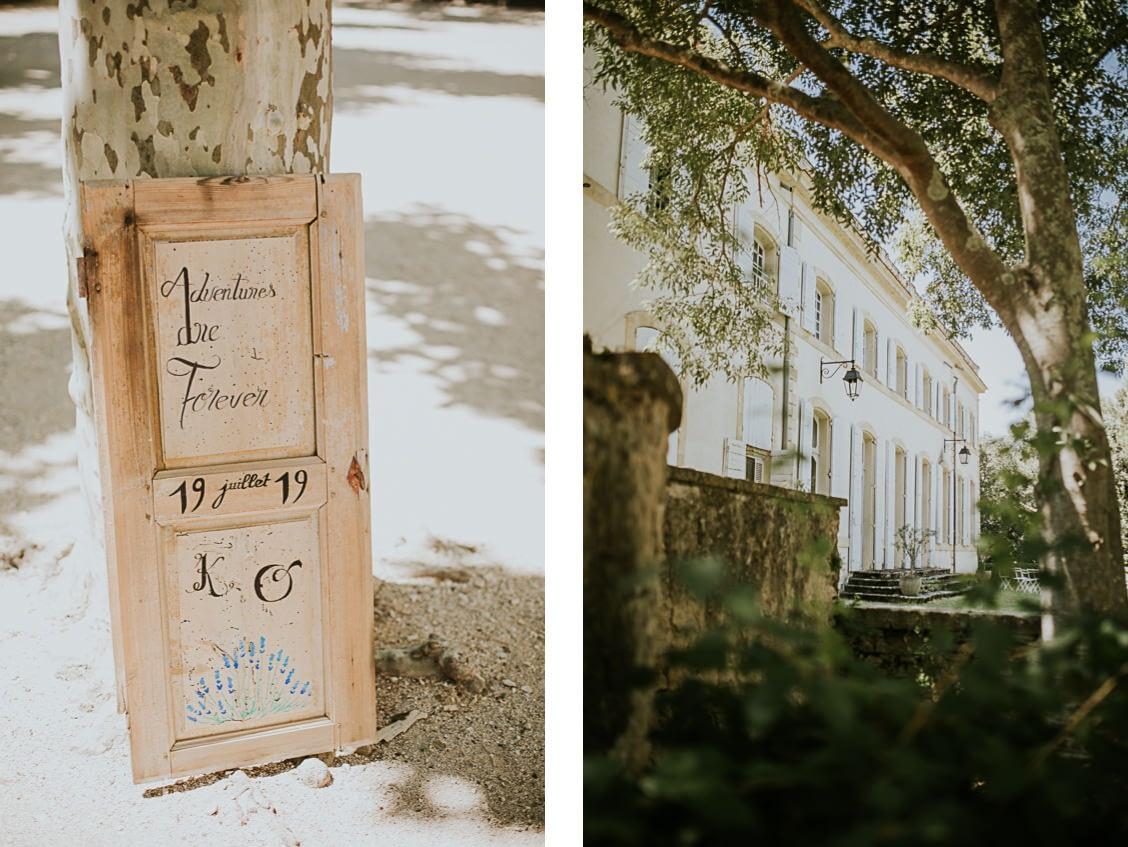 mariage chateau caseneuve provence detail decoration