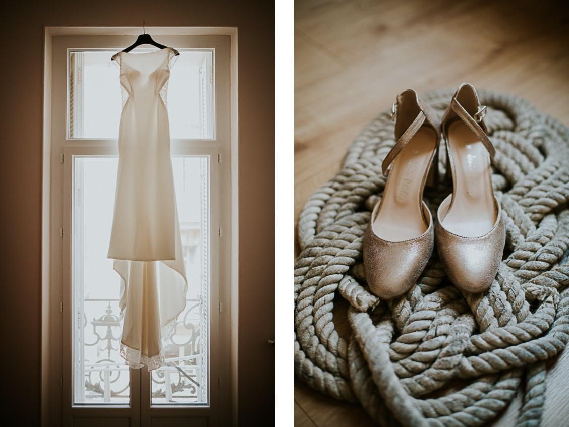 robe mariée Marseille bateau