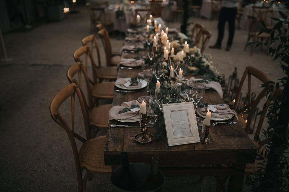 decoration table mariage luberon