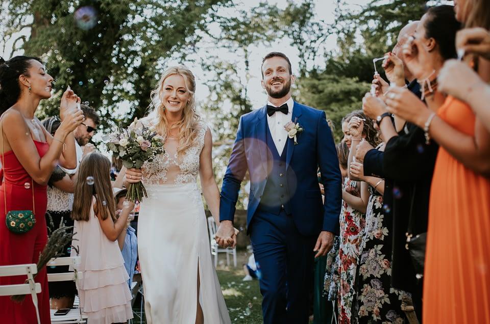 sortie cérémonie laïque mariés caseneuve