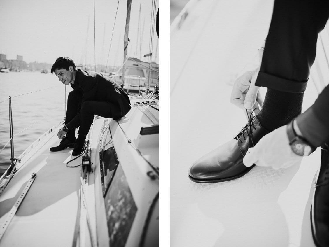 mariage marseille voilier photographe préparatifs