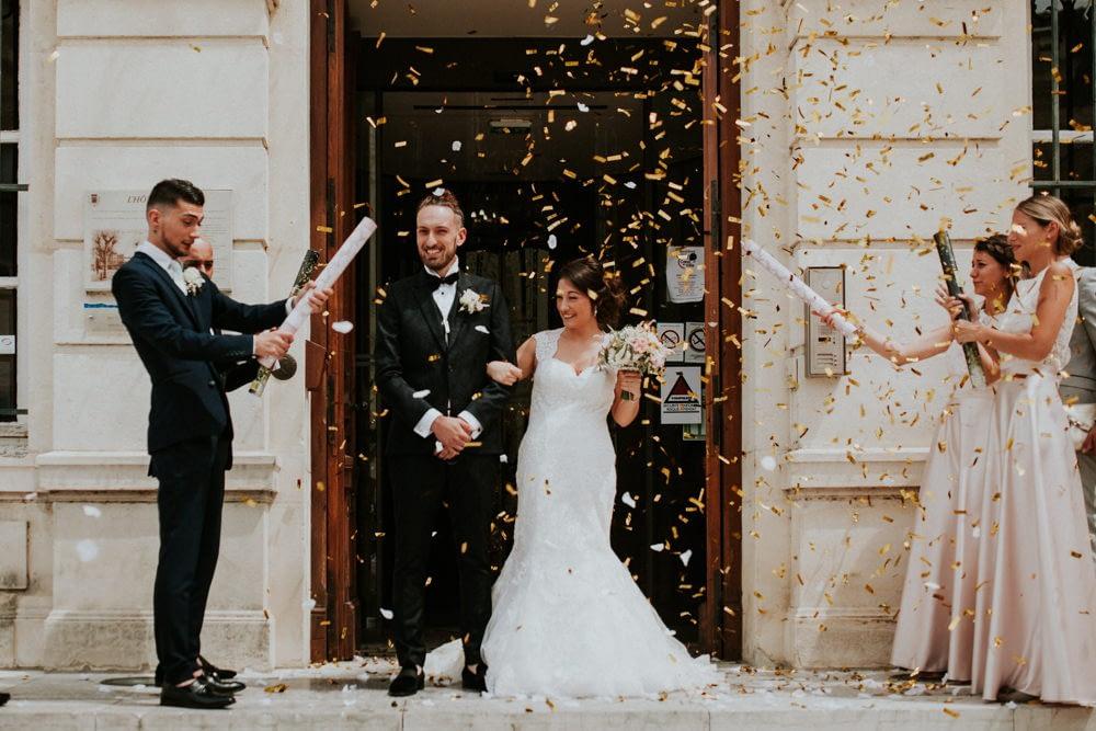 sortie marié mairie montellimar mariage