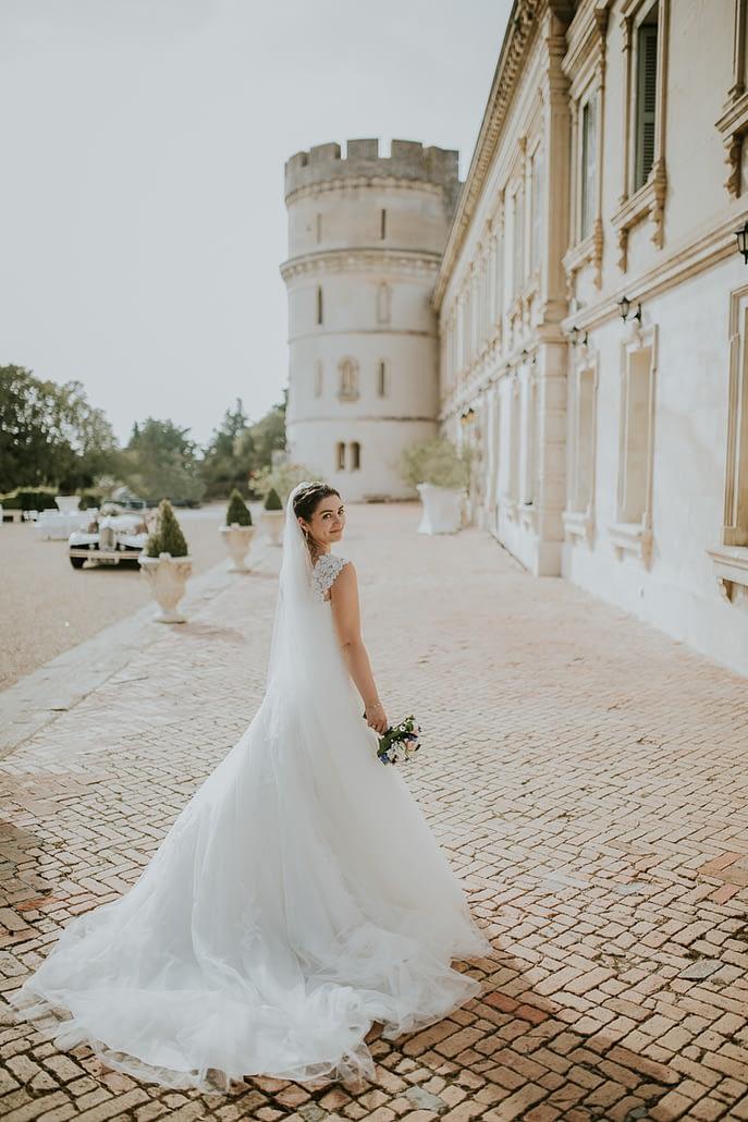 mariée chateau de Barbeagal Raphèle les Alrles